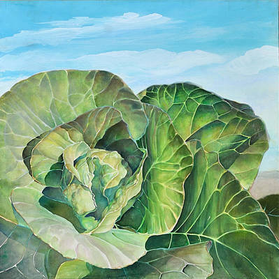 Painting - Cabbage I by Donna Page