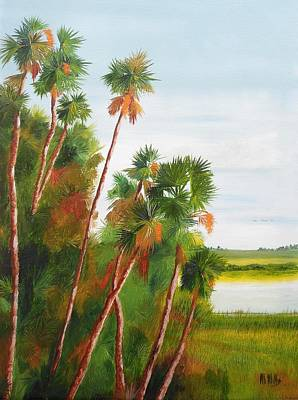 Painting - Cabbage Palms by Maria Mills