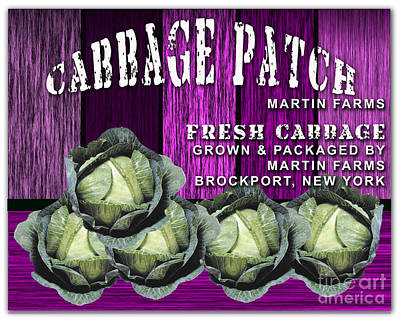 Cabbage Mixed Media - Cabbage Patch Farm by Marvin Blaine