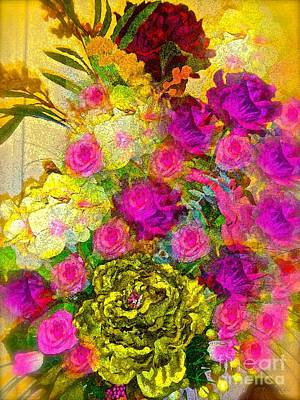 Painting - Cabbage Roses Vintage Impression by Saundra Myles