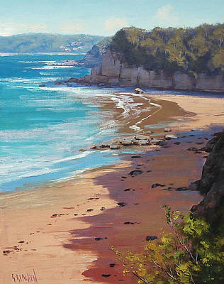 Australian Beach Painting - Cabbage Tree Bay by Graham Gercken