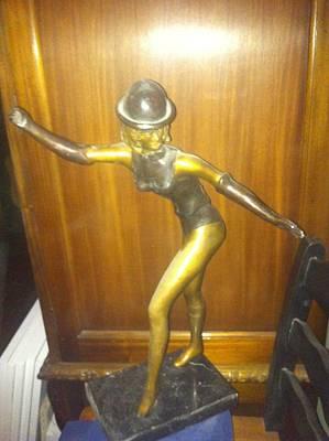 Caberet Sculpture - Caberet Dancer by David DeMars