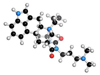 Molecule Photograph - Cabergoline Drug Molecule by Molekuul