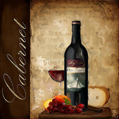 Cabernet Wine Painting - Cabernet IIi by Lourry Legarde