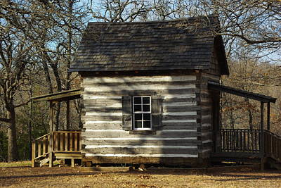 Photograph - Cabin At Fort Washita by Robyn Stacey