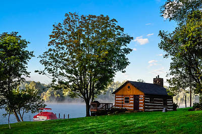 Cabin At The Lake Art Print