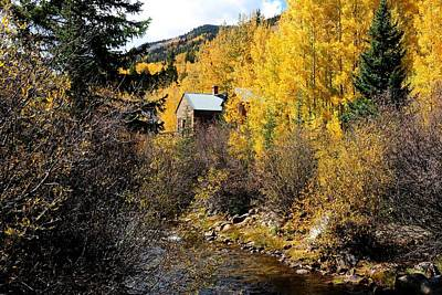 Photograph - Cabin By A Mountain Stream by Marilyn Burton