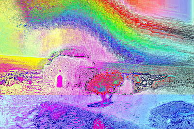 Outsider Art Photograph - I Love My Cosy Little Cabin By The Sea by Hilde Widerberg