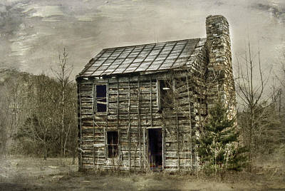 Cabin By The Track Series II Art Print by Kathy Jennings