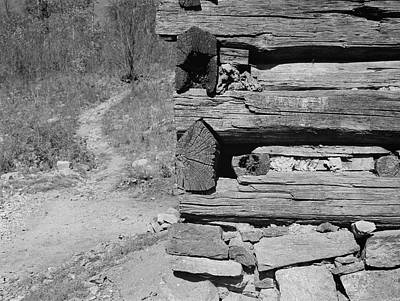 Cabin Corner Photograph - Cabin Construction, 1935 by Granger