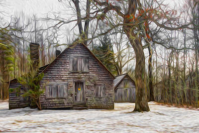 Oil Knife Photograph - Cabin Dream by Debra and Dave Vanderlaan