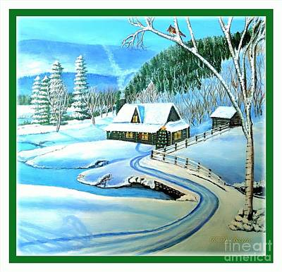 Tree With Eye Painting - Cabin Fever At Christmastime by Kimberlee Baxter