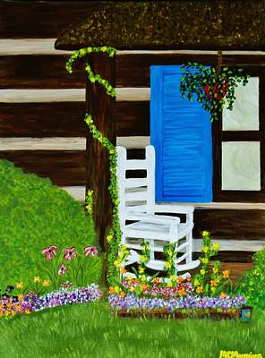 Art Print featuring the painting Cabin Fever by Celeste Manning