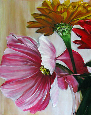 Painting - Cabin Flowers by Sherry Robinson
