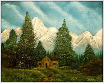 Cabin Getaway Art Print by Joyce Krenson