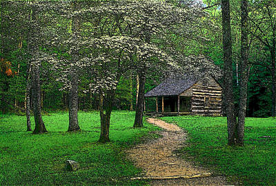 Art Print featuring the photograph Cabin In Cades Cove by Rodney Lee Williams