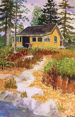 Painting - Cabin In Norway by Suzanne McKay