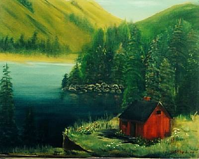 Cabin In The Catskills Art Print by Catherine Swerediuk