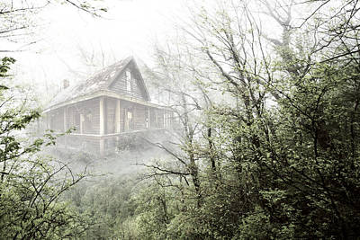 Abandoned Cabins Smoky Mountains Wall Art - Photograph - Cabin In The Fog by Debra and Dave Vanderlaan
