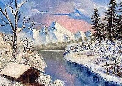 Cabin In The Mountains. Original by Stephan  Rowland