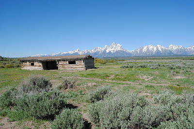 Photograph - Cabin In The Tetons by Robert  Moss