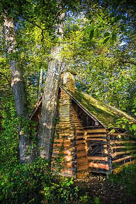 Cabin In The Woods Art Print by Debra and Dave Vanderlaan