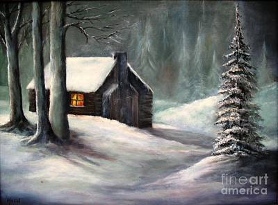 Cabin In The Woods Art Print by Hazel Holland