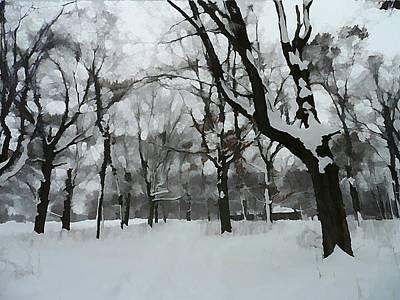 Cabin In The Woods Art Print by Victoria Fischer