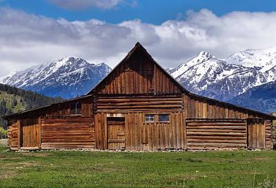 Photograph - Cabin In Wyoming by Dan Sproul