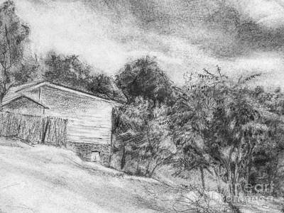 Drawing - Cabin by Jott DH