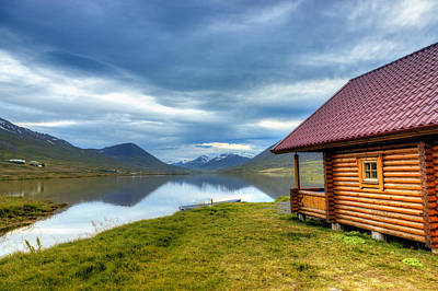 Architecture Photograph - Cabin On A Lake by Alexey Stiop