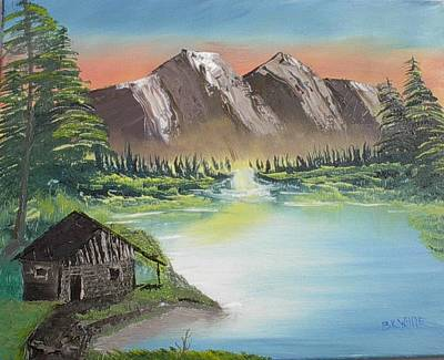Cabin On The Lake Art Print by Brian White