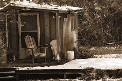 Digital Art - Cabin Porch by Kirt Tisdale