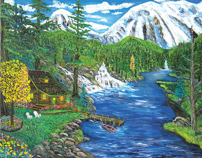 Painting - Cabin River by Mike De Lorenzo