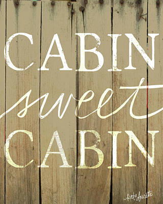 Cabin Painting - Cabin Sweet Cabin by Katie Doucette