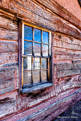 Photograph - Cabin Window by Christopher Holmes