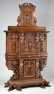 1850s Painting - Cabinet Unknown France, Burgundy, Europe 1580 Minor by Litz Collection