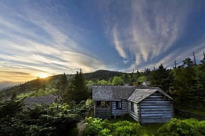 Photograph - Cabins At Dawn by Debra and Dave Vanderlaan