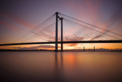 Art Print featuring the photograph Cable Bridge by Ronda Kimbrow