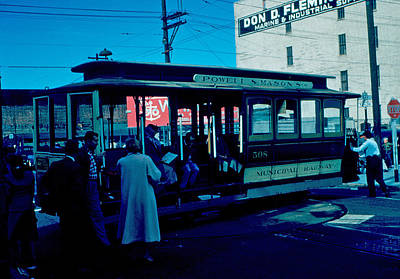 Photograph - Cable Car 1955 by Cumberland Warden
