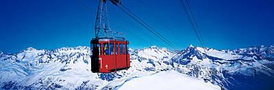 Cable Car Andermatt Switzerland Art Print by Panoramic Images