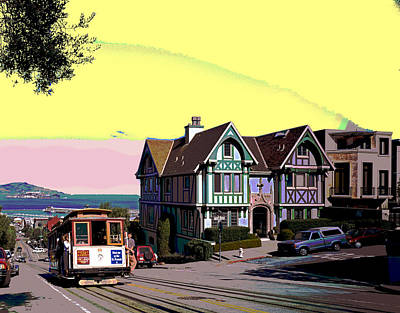 Cable Car Hyde Street Art Print by Charles Shoup
