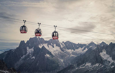 Cable Car In The Alps Art Print by Buena Vista Images