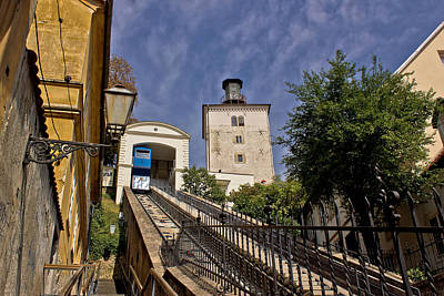 Photograph - Cable Car Lift In Zagreb Way To Upper Town by Brch Photography