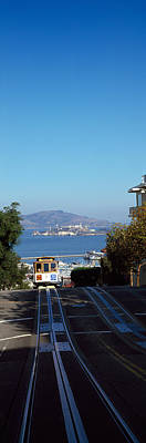 Alcatraz Island Photograph - Cable Car On Tracks, Alcatraz Island by Panoramic Images