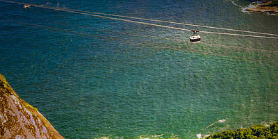 Photograph - Cable Car Over The Ocean by Celso Diniz