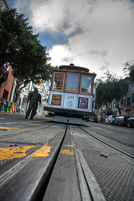 Market Street Photograph - Cable Car by Peter Tellone