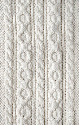 Textile Photograph - Cable Knit by Elena Elisseeva