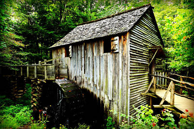 Grist Mill Photograph - Cable Mill - Cades Cove by Stephen Stookey