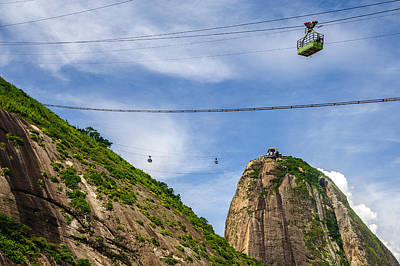 Photograph - Cableway On Sugarloaf Mountain by Celso Diniz